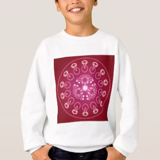 Raven Crow Bird Pentagram Wicca Pagan Spiral Self- Sweatshirt