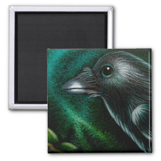 RAVEN CROW NORTHERN LIGHTS MAGNET