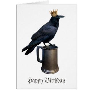 Raven Crown Stein Birthday Card
