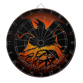 Raven Dartboard Cool Tribal Raven Art Dartboard