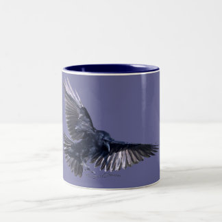 Raven Descending Two-Tone Coffee Mug