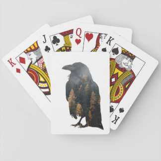 Raven Double Exposure Playing Cards