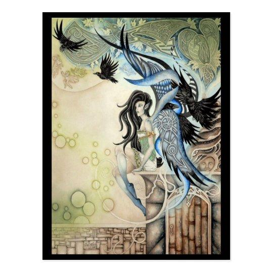Raven Faery Postcard