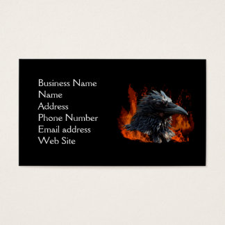 Raven Flames Business Card