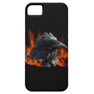 Raven Flames Wiccan Gothic Design iPhone 5 Cover