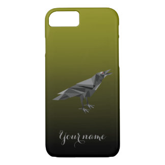 Raven Geometric Grey Triangles iPhone 7 Case