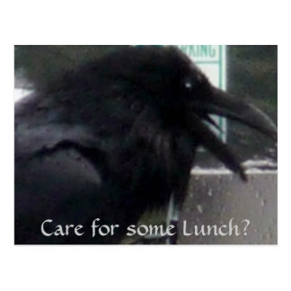 Raven Greetings from Alaska Postcard