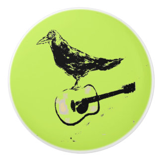 raven guitar song ceramic knob