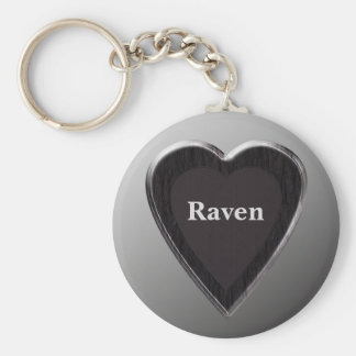 Raven Heart Keychain by 369MyName