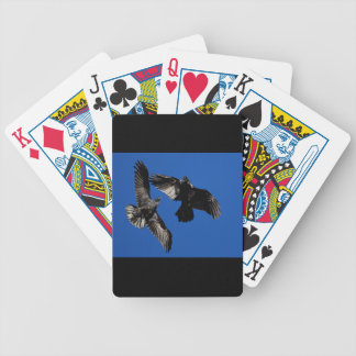 Raven in Flight Bicycle Playing Cards