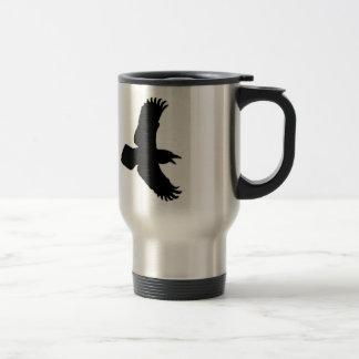 Raven In Flight Bird Print Travel Mug