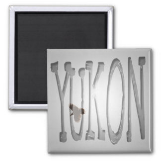 Raven in Flight; Yukon Territory Souvenir Square Magnet