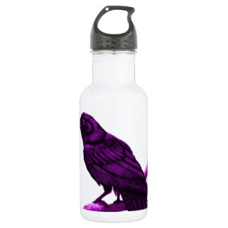Raven in Purple by Sharles 532 Ml Water Bottle