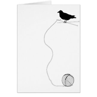 Raven Knitting Card