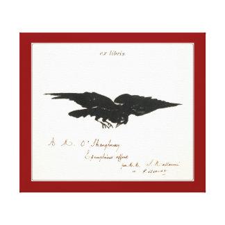 Raven – Le corbeau (ex-libris) Canvas Print