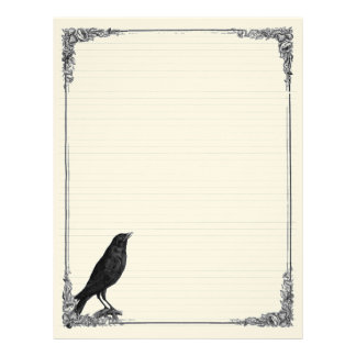 Raven Lined Book of Shadows Page