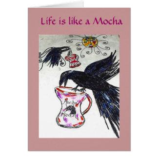 Raven Loves Mochas Card