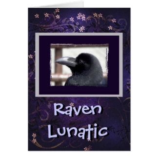 Raven Lunatic Greeting Card