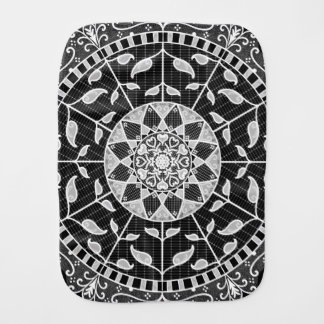 Raven Mandala Burp Cloth