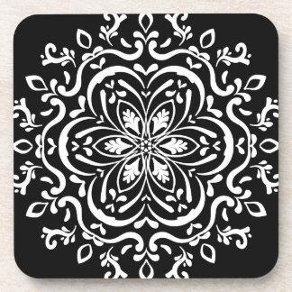 Raven Mandala Drink Coasters