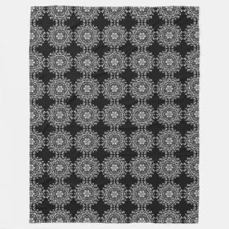 Raven Mandala Fleece Blanket