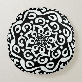 Raven Mandala Round Pillow
