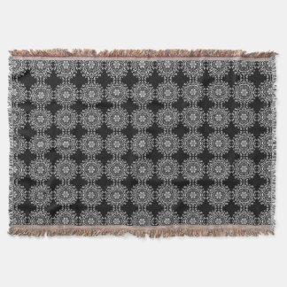 Raven Mandala Throw Blanket