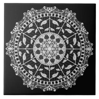 Raven Mandala Tile