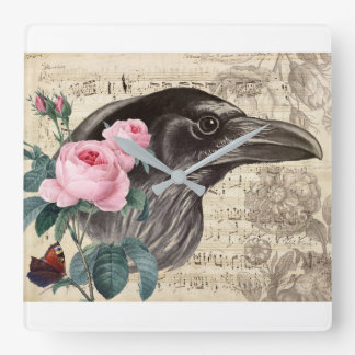 Raven Music Square Wall Clock