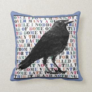 Raven Never More Throw Pillows