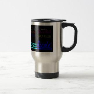 Raven Nicole Regular Logo and Numerous Names Travel Mug