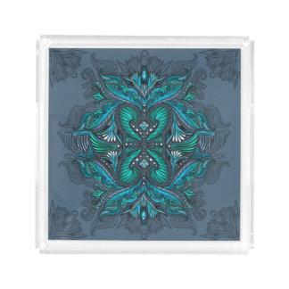 Raven of mirrors, dreams, bohemian, shaman acrylic tray