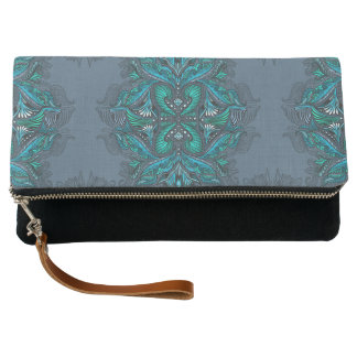 Raven of mirrors, dreams, bohemian, shaman clutch