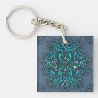 Raven of mirrors, dreams, bohemian, shaman keychain