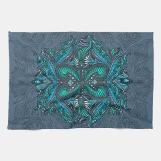 Raven of mirrors, dreams, bohemian, shaman kitchen towel