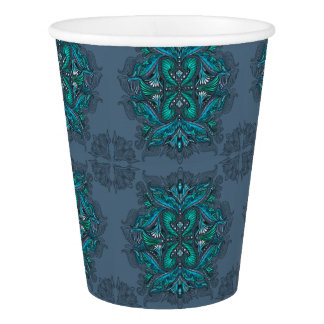 Raven of mirrors, dreams, bohemian, shaman paper cup