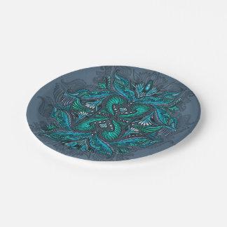 Raven of mirrors, dreams, bohemian, shaman paper plate