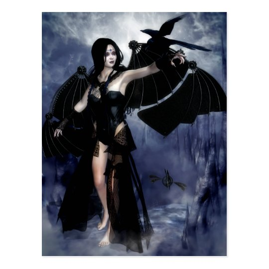 Raven of the Night Postcard