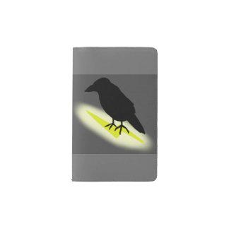 Raven on Lightning Pocket Moleskine Notebook