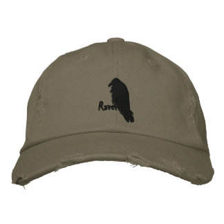Raven on Raven Embroidered hat