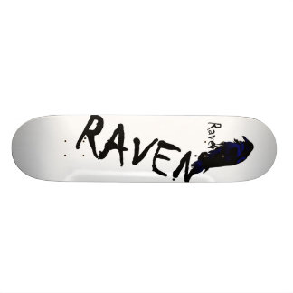 Raven on Raven Skateboard Deck