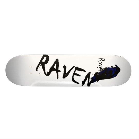 Raven on Raven Skateboard Deck