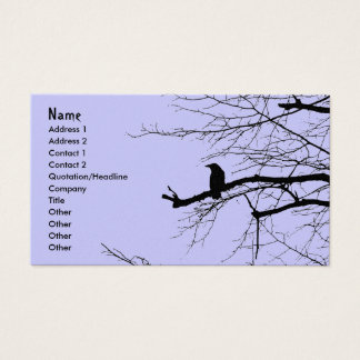 Raven on the Tree Business Card