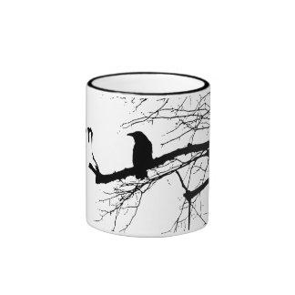 Raven on the Tree Ringer Mug