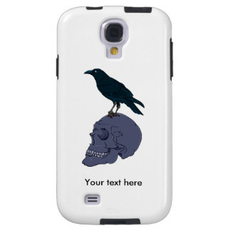Raven Or Crow Standing On A Human Skull