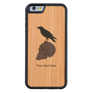 Raven Or Crow Standing On A Human Skull Cherry iPhone 6 Bumper Case