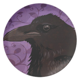 Raven Party Plate