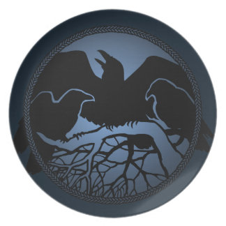 Raven Plate First Nations Raven Art Serving Plates