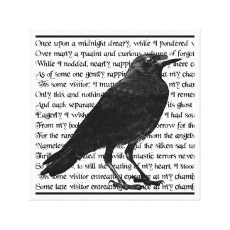 Raven Poem Edgar Allan Poe Canvas Print