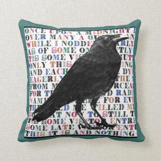 Raven Poem Throw Pillow